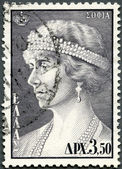 GREECE - 1956: shows Queen Sophia of Greece — Stockfoto