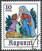 "GERMANY - 1978: shows Scene from fairy tale ""Rapunzel"" — Stock Photo"