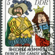 "GERMANY - 1977: shows scene from fairytale: ""Six Men Around the World"" — Stock Photo"