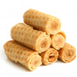 Wafer rolls — Stock Photo