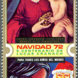 Stock Photo: EQUATORIAL GUINE- 1972: shows Madonnand Christmas, is devote