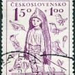 CZECHOSLOVAKI- 1948: shows Barefoot Boy, surtax was for child welfare — 图库照片 #11758024