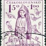 CZECHOSLOVAKIA - 1948: shows Barefoot Boy, the surtax was for child welfare — Stock Photo