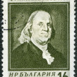 BULGARIA - 1956: shows portrait of Benjamin Franklin (1706-1790) — Stock Photo
