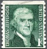 USA - 1965: shows President Thomas Jefferson (1801-1809) — Stock Photo