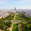 Aerial panoramic view of Paris and Seine river as seen from Eiff — Stock Photo #11347953