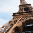 Vertical oriented image famous Eiffel Tower in Paris, France. — Stockfoto