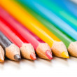 Stock Photo: Color pencils on white