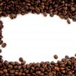Coffee beans on the white background with copy space — Zdjęcie stockowe