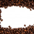 Coffee beans on the white background with copy space — Stockfoto