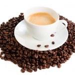 šálek kávy cappuccino izolovaných na bílém pozadí — Stock fotografie
