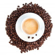Cup of coffee cappuccino isolated over white background — Stockfoto