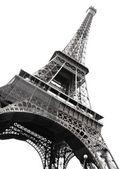 Famosa eiffel torre di parigi isolato su bianco — Foto Stock