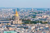 Les invalides - Aerial view of Paris. — Stock Photo