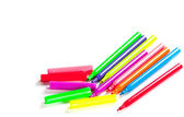 Felt pens on white background — Stockfoto