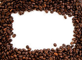 Coffee beans on the white background with copy space — Stock Photo