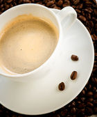 Cup of coffee cappuccino — Stock Photo