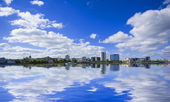View of quay wharf embankment Yekaterinburg City — Stock Photo