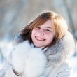 Young woman winter portrait. Shallow dof. — Stock Photo #11350248