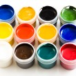 Set of the watercolor gouache paints — Stok fotoğraf