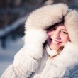 Young woman winter portrait. Shallow dof. — Stock Photo #11350282
