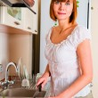 Woman preparing something to eat — Stock Photo #11351350