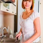 Woman preparing something to eat — Stock Photo #11351350