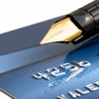 Credit card and pen — Stock Photo #11351949