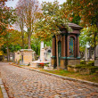 Pere-lachaise cemetery, Paris, France - Stock Photo