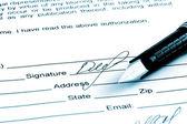 Signature a — 图库照片