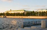 View of quay wharf embankment Yekaterinburg City — Stock Photo