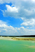 Calmed sea in an empty beach — Stock Photo