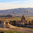 Balloon flying over Cappadocia, Turkey — Stock Photo #11609811