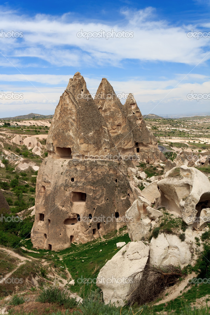Unique geological formations, Cappadocia, Turkey  Stock Photo #11730524