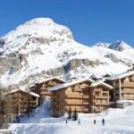 Mountain ski resort — Stock Photo