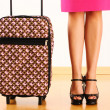 Woman with travel suitcase — Stock Photo #11171958