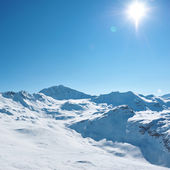 Mountains with snow in winter — Stock Photo