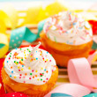 Cupcakes with whipped cream — Stock Photo #11648831
