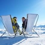 Apres ski at mountains — Stock Photo