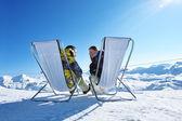 After ski på berg — Stockfoto
