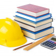 Construction industry education concept on white — Stock Photo #11075046