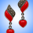 Stock Photo: Jewellery concept with nice earrings