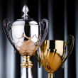 Stock Photo: Prize cup against background