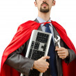 Royalty-Free Stock Photo: Superman isolated on the white background