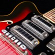Close up of music guitar — Stock Photo