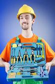 Repairman with his toolkit — Stock Photo