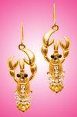 Concetto moda bellezza con orecchini — Foto Stock