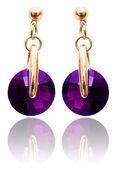 Conceito de moda e jóias com os brincos — Foto Stock