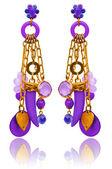 Concetto di moda e gioielli con orecchini — Foto Stock