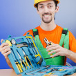 Repairmwith his toolkit — Stock Photo #11174415